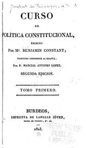 Curso de política constitucional: Volumen 1
