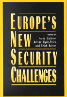 Europe s New Security Challenges PDF