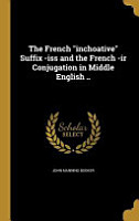FRENCH INCHOATIVE SUFFIX  ISS PDF