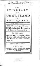The Itinerary of John Leland the Antiquary: Volumes 3-4