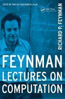 Feynman Lectures On Computation PDF