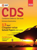 CDS  Combined Defence Services  2020   Chapterwise Solved Papers 2007 2019 PDF