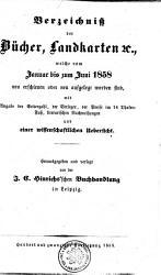 Verzeichni   der B  cher  Landkarten  et c   welche vom Januar bis zumi Juni 1858 neu erschienen oder neu aufgelegt worden sind PDF