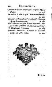Opera posthuma Latina: Viri doctissimi et clarissimi Roberti South, ... Viz. orationes ... Quibus adjiciuntur musica incantans aliaque poemata ab eodem authore composita. Nunc primum in lucem edita..