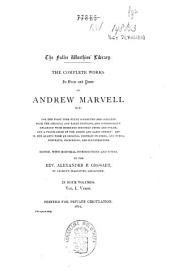 The Complete Works in Verse and Prose of Andrew Marvell M.P.