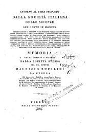 Intorno al tema proposto dalla società italiana delle scienze residente in Modena Determinare se le idee che dalle moderne scuole mediche si danno ... Memoria ... del sig. dottor Maurizio Bufalini da Cesena ...