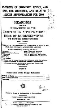 Departments of Commerce  Justice  and State  the Judiciary  and Related Agencies Appropriations for 2000  Justification of the budget estimates  Department of State  Maritime Administration  the judiciary PDF