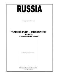 Russia President Vladimir Putin Handbook PDF
