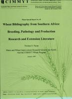 Wheat bibliography from Southern Africa  Breeding  pathology and production    Research and extension literature PDF