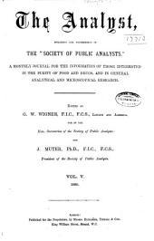 The Analyst: Volume 5