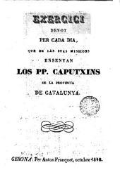 Exercici devot per cada dia que en les suas missions ensenyan los PP. Caputxins de la prov. de Catalunya