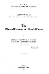 The mineral content of Illinois waters: Issues 13-15