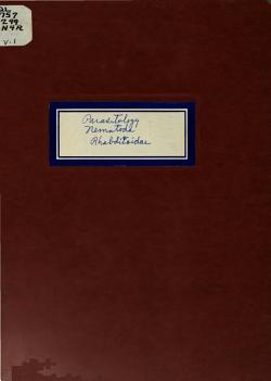 Parasitology Reprints  Nematoda  Rhabditoidea PDF