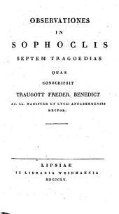 Observationes in Sophoclis septem Tragoedias