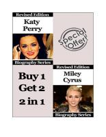 Celebrity Biographies   The Amazing Life Of Katy Perry and Miley Cyrus   Famous Stars PDF
