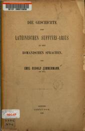 Die Geschichte des lateinischen Suffixes -arius in den romanischen Sprachen