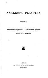 Analecta Plautina