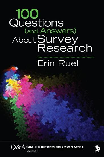 100 Questions  and Answers  About Survey Research PDF