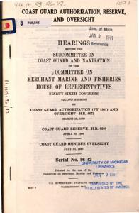 Coast Guard authorization  reserve  and oversight PDF