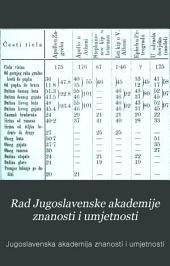 Rad Jugoslavenske akademije znanosti i umjetnosti: Books 55-57