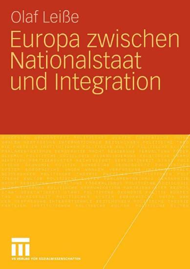 Europa zwischen Nationalstaat und Integration PDF