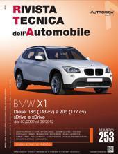 Manuale di riparazione BMW X1: 18d (143cv) e 20d (177cv) sDrive e Xdrive - RTA253