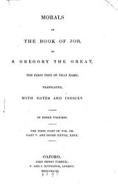 Morals on the Book of Job: Volume 3; Volume 23