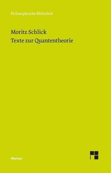 Texte zur Quantentheorie PDF