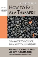 How to Fail as a Therapist PDF
