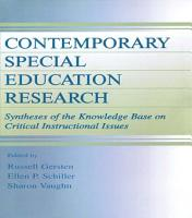 Contemporary Special Education Research PDF