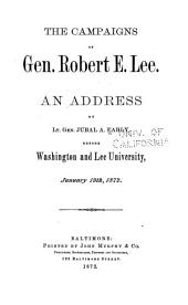 The Campaigns of Gen. Robert E. Lee: Volume 222