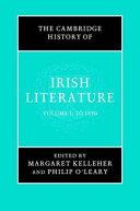 The Cambridge History of Irish Literature PDF