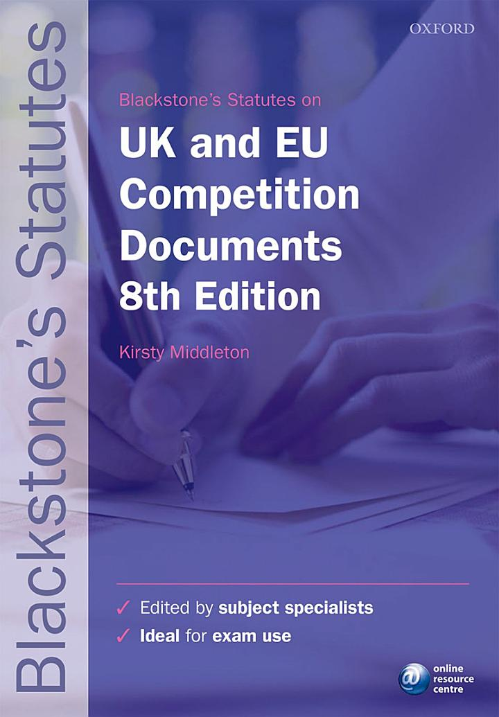 Blackstone's UK & EU Competition Documents