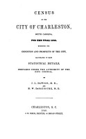 Census of the City of Charleston  South Carolina  for the Year 1848 PDF