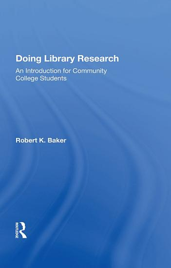 Doing Library Research PDF
