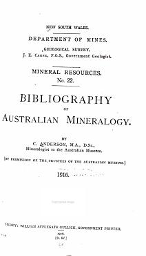 Bibliography of Australian Mineralogy PDF