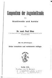 Compendium der Augenheilkunde, für Studirende und Aerzte