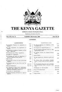 Kenya Gazette PDF