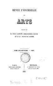 REVUE UNIVERSELLE DES ARTS PUBLIEE PAR