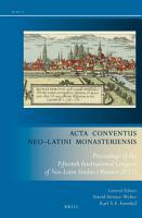 Acta Conventus Neo Latini Monasteriensis PDF