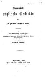 Ausgew  hlte englische Gedichte     herausgegeben  mit einem W  rter Verzeichnisse und Anmerkungen begleitet von W  Zottmann PDF