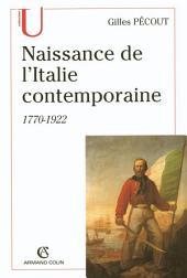 Naissance de l'Italite contemporaine: 1770-1922