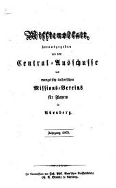 Missionsblatt: 1865