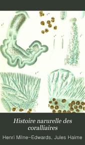 Histoire narurelle des coralliaires