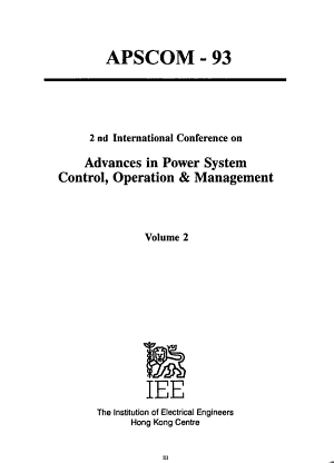 2nd International Conference on Advances in Power System Control  Operation   Management PDF