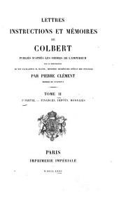 Lettres, instructions et mémoires de Colbert: Volume2,Numéro1