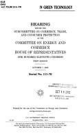 Growing U S  Trade in Green Technology PDF