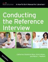 Conducting the Reference Interview  Third Edition PDF