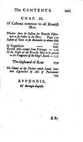 The Common Law of Kent, Or, The Customs of Gavelkind: With an Appendix Concening Borough-English