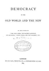 Democracy in the Old World and the New